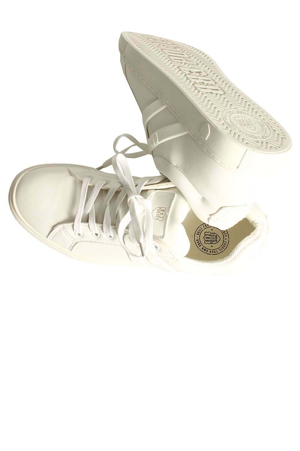 Mens Trainers Trainers 883 POLICE Bill Trainers Mens White 3eb9f9