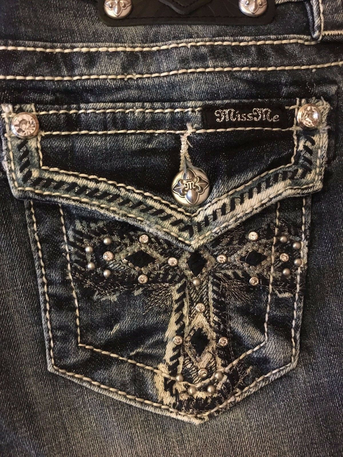 Miss Me womens jeans JP5100B9  Bless your Heart  boot cut