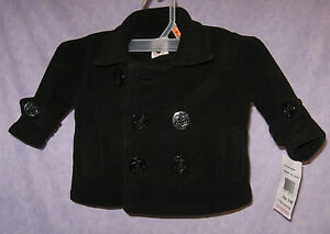 Navy-Pea-Coat-6-9M-Good-Lad-of-Philadelphia-Anchor-Button-Just-Like-Daddy-Warm