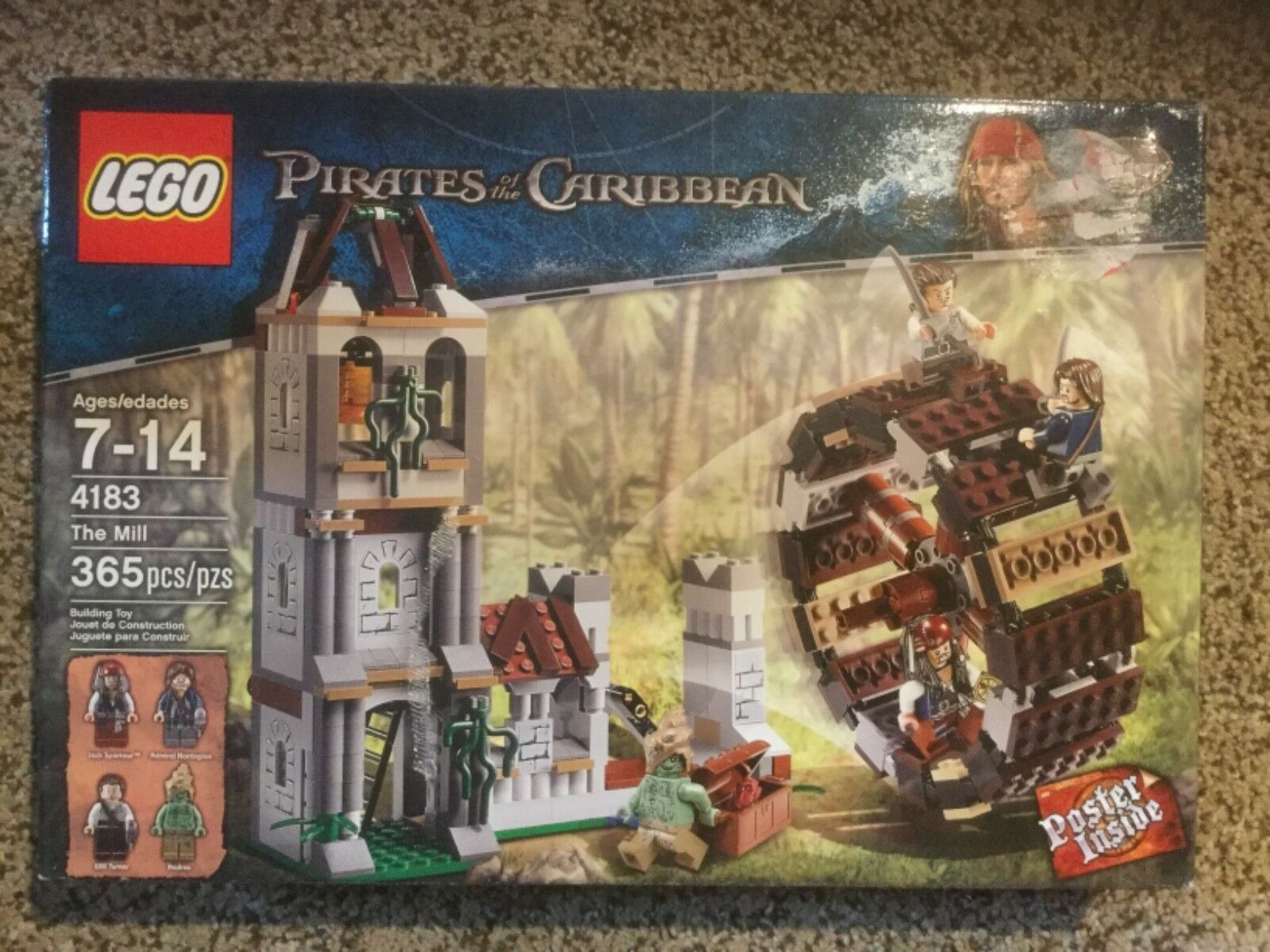 NIB Lego The Mill.  Pirates of the Caribbean.  4183