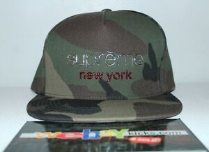 ed0059f7b27 Supreme New York Chrome Classic Olive Camouflage 5 Panel Snapback ...