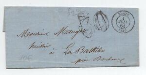 1861 Lettre Taxe 30 Blaye Gironde Remise En Ligne