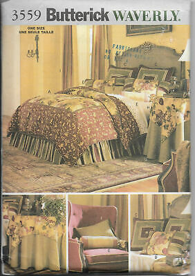 BEDROOM ACCESSORIES PILLOW PATTERN  FF BUTTERICK #5860 WAVERLY CURTAIN
