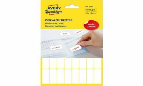Avery Zweckform Vielzwecketiketten Etiketten weiß 1800 Stück 18x12 Beschriftung