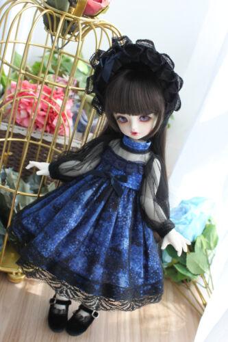 Saia Para 1//6 1//4 Mini Super Dollfie Yosd Boneca Articulada Bola Boneca Dollfie Roupas Pf Lolita Vestido