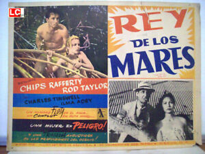 * King of the Coral Sea / Chips Rafferty / 1953 / MEXICAN LOBBY CARD/ Lee Robins
