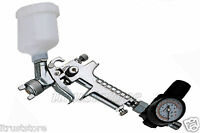 Hvlp High Volume Low Pressure Detail Spray Gun 120 Cc Gravity Feed 0.8 Mm Nozzle