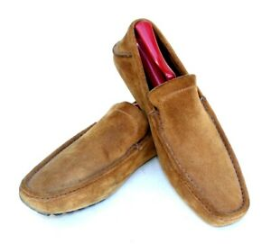 e3055fe1 Details about Gucci Italy Brown Suede Leather Slip On Loafer Driving  Moccasin Shoe Men's US 8D