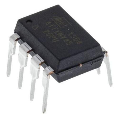 Microchip ATTINY45-20PU 20MHz 8-P 8bit AVR Microcontroller 256 B Flash 4 kB