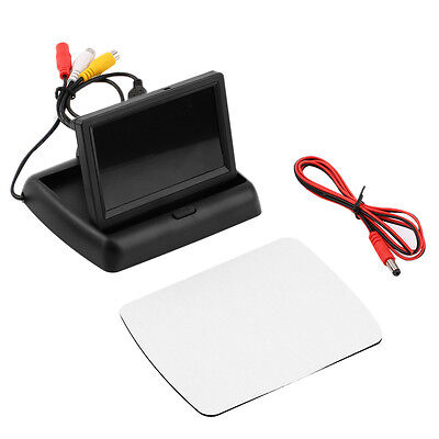 4.3'' LCD TFT Foldable Color Monitor Screen For Car Reverse Rearview Camera GJ