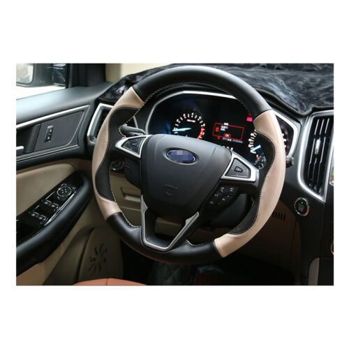 ABS Chrome Steering Wheel Decorative Cover Trim Fit For Ford Edge 2015-2017