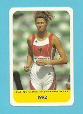 Heike Henkel Olympics Track & Field High Jump Cool Collector Card Europe Look!