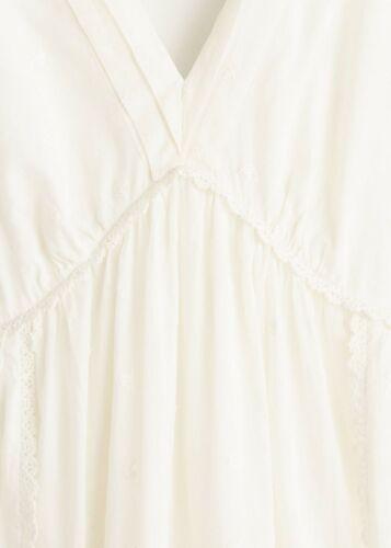 MANGO WHITE LONG MAXI EMBROIDERED DRESS MAXIKLEID LANGES KLEID STICKEREI S M L