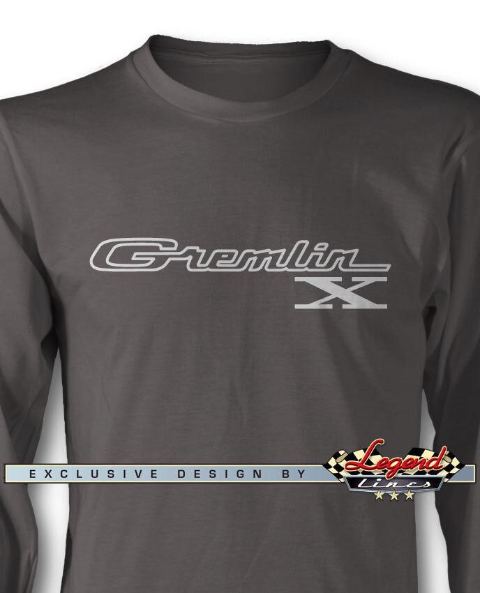 AMC Gremlin X 1970 - 1978 Emblem Logo Long Sleeves T-Shirt - Multi. Col. & Sizes