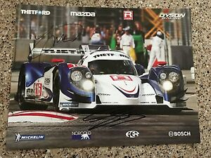 BRITISH-Racing-Photo-DUAL-Signed-by-DRIVERS-Guy-Smith-amp-Johnny-Mowlem-LE-MANS