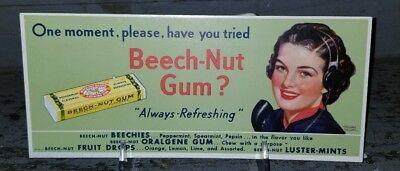 Rars Chewing Gum Blotter Advertisement Card Pin-up Beech-Nut Gum