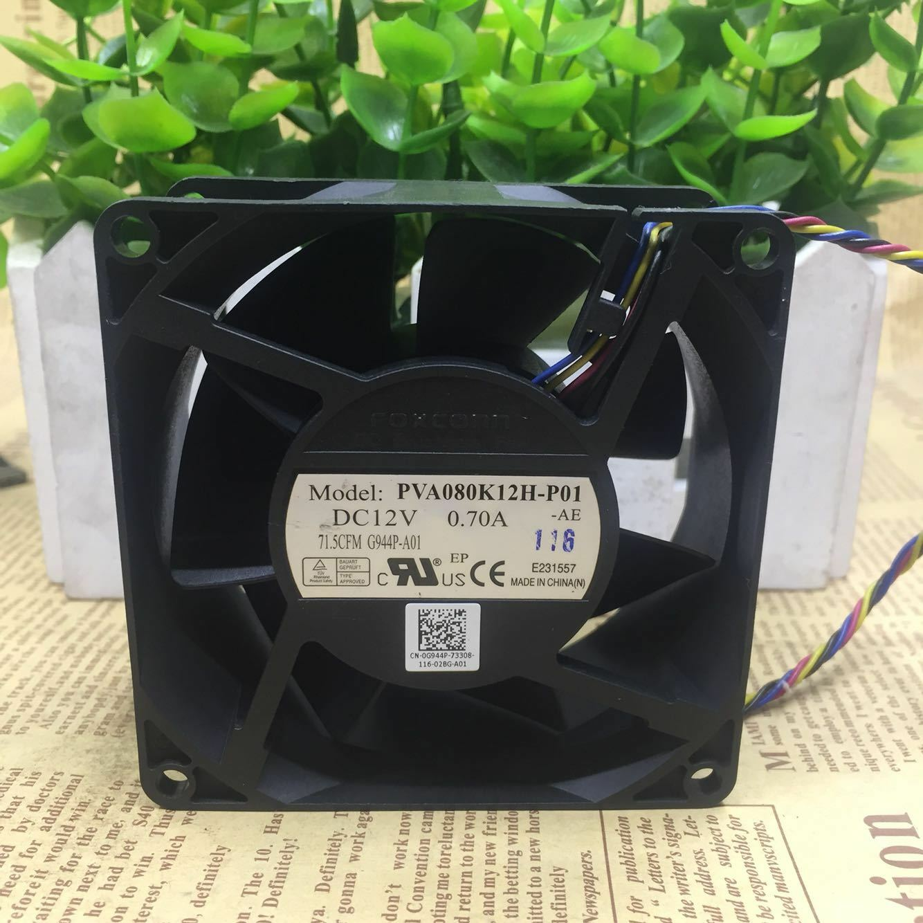 1PC FOXCONN PVA080K12H-P01 8038 8CM 12V 0 70A 4-wire cooling