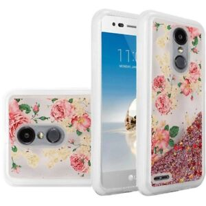 classic fit 8ff79 f0a67 Details about For LG Rebel 4 LML212VL / LML211BL Liquid Quicksand Case  Cover + Tempered Glass