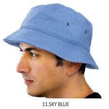 f021b6bf20e Bucket Hat Cap Cotton Fishing Boonie Brim visor Sun Safari Summer Men  Camping