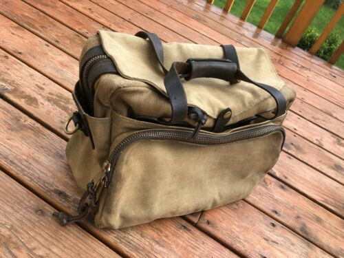 Filson Padded Computer Bag YKK Zippers Vintage Ful