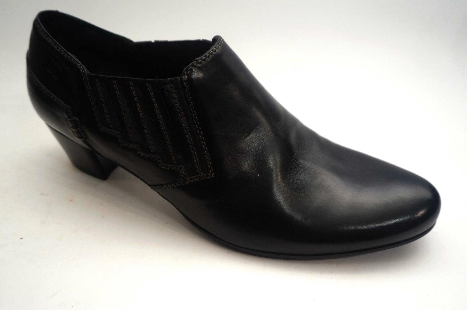 Sconto del 70% a buon mercato Donna Carolina scarpe scarpe scarpe alta front Pelle Slipper Dimensione 36,5 () Nero  edizione limitata