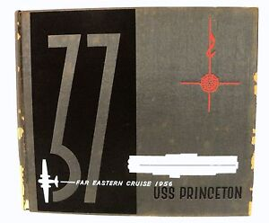 uss princeton cvs 37 far eastern cruise book 1956 ebay
