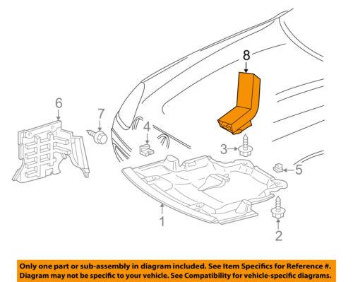Mercedes MERCEDES-BENZ OEM 01-04 SLK230 Splash Shield-Air Duct 1705280209