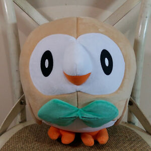 11'' Official JUMBO ROWLET Plush Toy Pokemon Center Trainer Size Generation doll