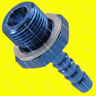 """Bosch 044 Fuel Pump Inlet M18x1.5 to 8mm 5/16"""" Barb Fitting Blue W/ 1Yr Warranty"""