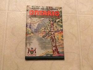 1934-Happy-Holiday-Haunts-Ontario-Canada-Vacationland-Booklet-Book