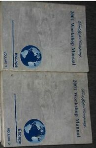 2001 FORD ESCAPE Service Shop Repair Manual Set W ...