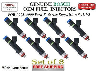 *12 hole UPGRADE 8x Bosch OEM Fuel Injectors for 2003-2004 Ford F-250 SD 5.4L V8