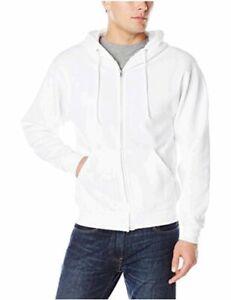 Jerzees-Men-039-s-Fleece-Full-Zip-Hoodie-White-X-Large-White-Size-X-Large-4tLw