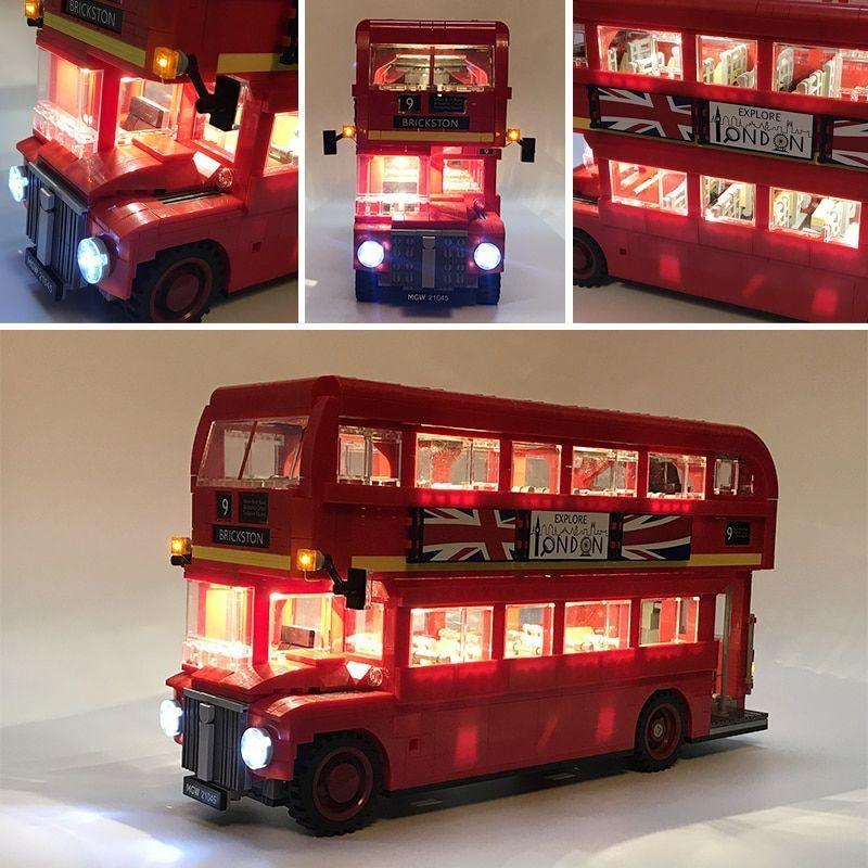 Led Light Set w  Battery Box For Lego Technic 10258 London Bus LED Kit For 21045