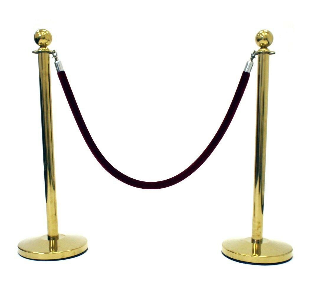 Rope barriers Queue Management system Pole /& Rope Barrier