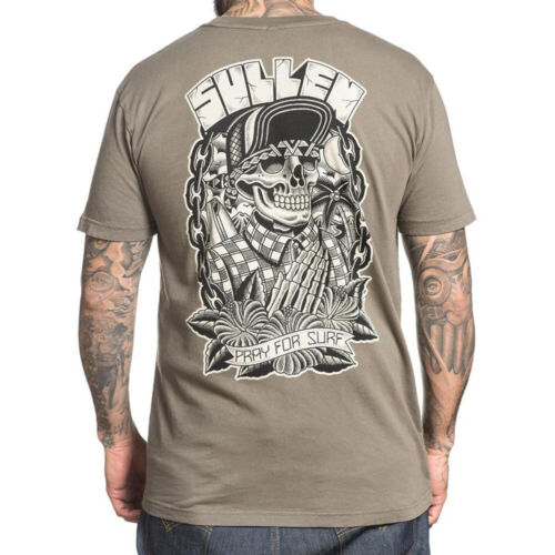 SULLEN CLOTHING Pray for Surf Choloha Capsule T-Shirt Olive S NEW