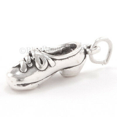 925 Sterling Silver Tap Dancing Shoe Charm Made in USA