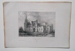 Lithografie-19-Jhd-Notre-Dame-de-L-039-Dorn-Morchel-victor-Klein