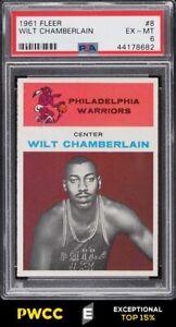 1961 Fleer Basketball Wilt Chamberlain ROOKIE RC #8 PSA 6 EXMT (PWCC-E)