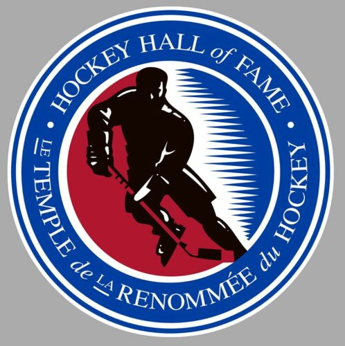 STICKER HOCKEY SUR GLACE HALL OF FAME CANADA TEMPLE STANLEY CUP 12cm HB044