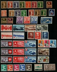 Switzerland-1900-61-general-collection-of-sets-and-singles-with-emphasis-Stamps