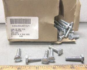 Box-of-100-1-4-034-Hex-Head-Machine-Bolts-NOS
