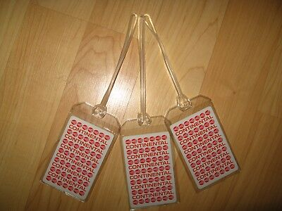 Continental Airlines Luggage Tags - Vintage Playing Card CO CAL Name Tag Set (3)