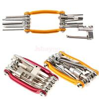 11 In 1 Multifunction Bycicle Combination Repair Steel Tool Gold/red Color