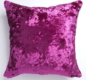 Image Is Loading Luxury Reversible Shimmer Crushed Velvet Pink Cushion Cover