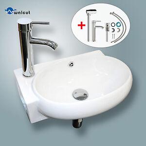 Attrayant Image Is Loading Bathroom Vessel Wall Mount Sink Ceramic Corner Basin