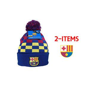 b458935f1ba Fc Barcelona Beanie + Sticker Winter Skull Cap Lionel Messi 10 fcb6 ...