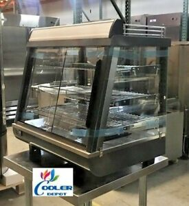 NEW-27-034-Commercial-Dry-Heated-Showcase-Display-Hot-Food-Snack-Pizza-Warmer-NSF