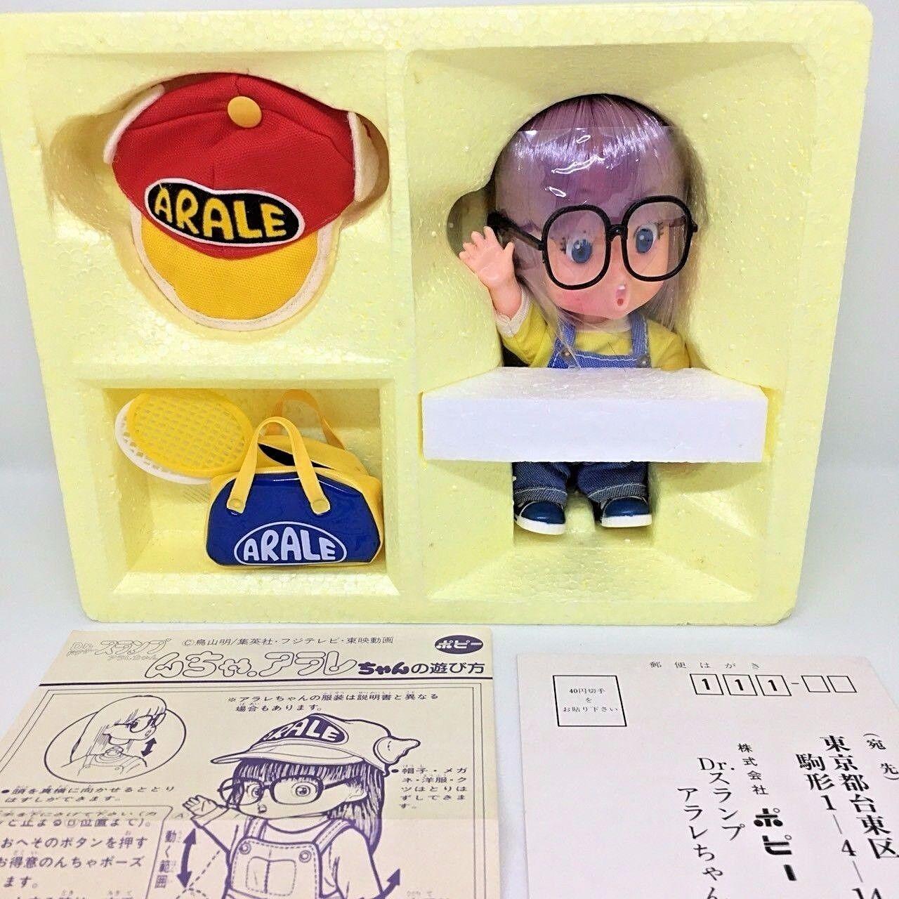orden en línea Vintage Rara Popy Arale Chan Dr. bajón bajón bajón Japonés Anime Figura de Vinilo Suave Juguete Regalo  soporte minorista mayorista