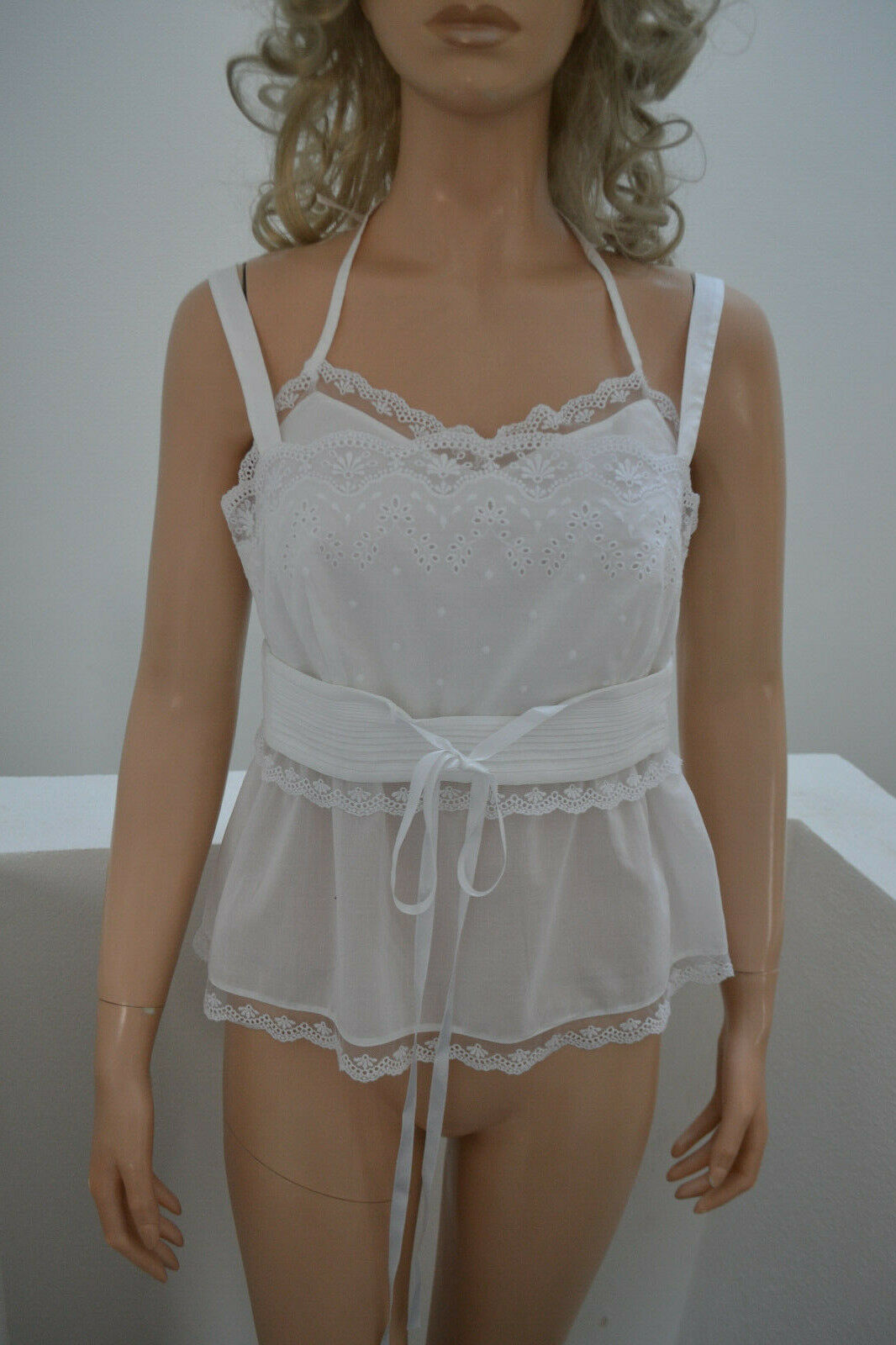 Wolford May Dance Top bluese weiß white 38